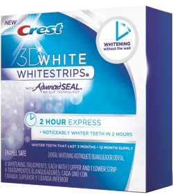 Crest 3D White 2 Hour Express Whitestrips – Our Results and a GIVEAWAY!