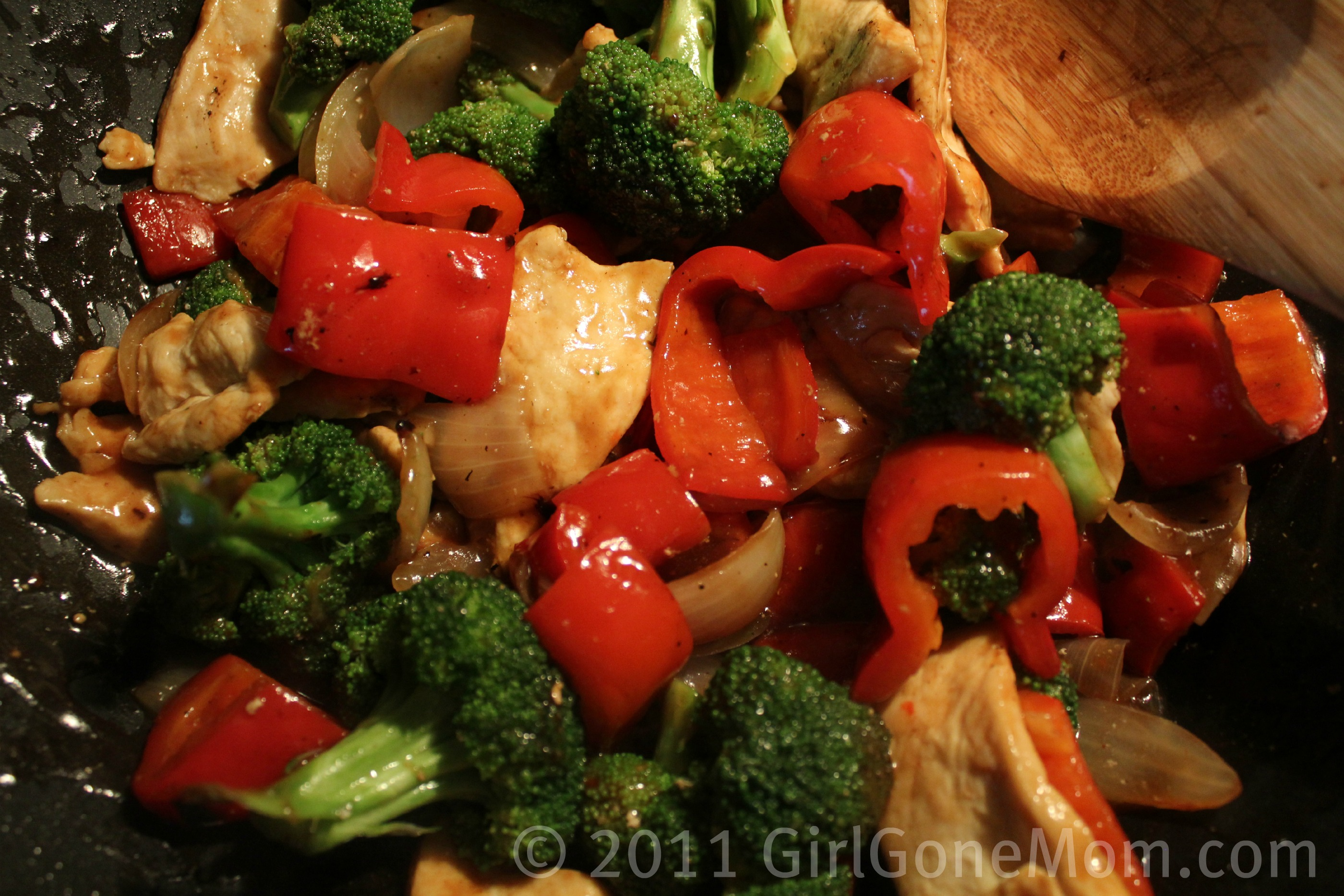 So i should correct that, this Easy Chicken Vegetable Stir Fry dish