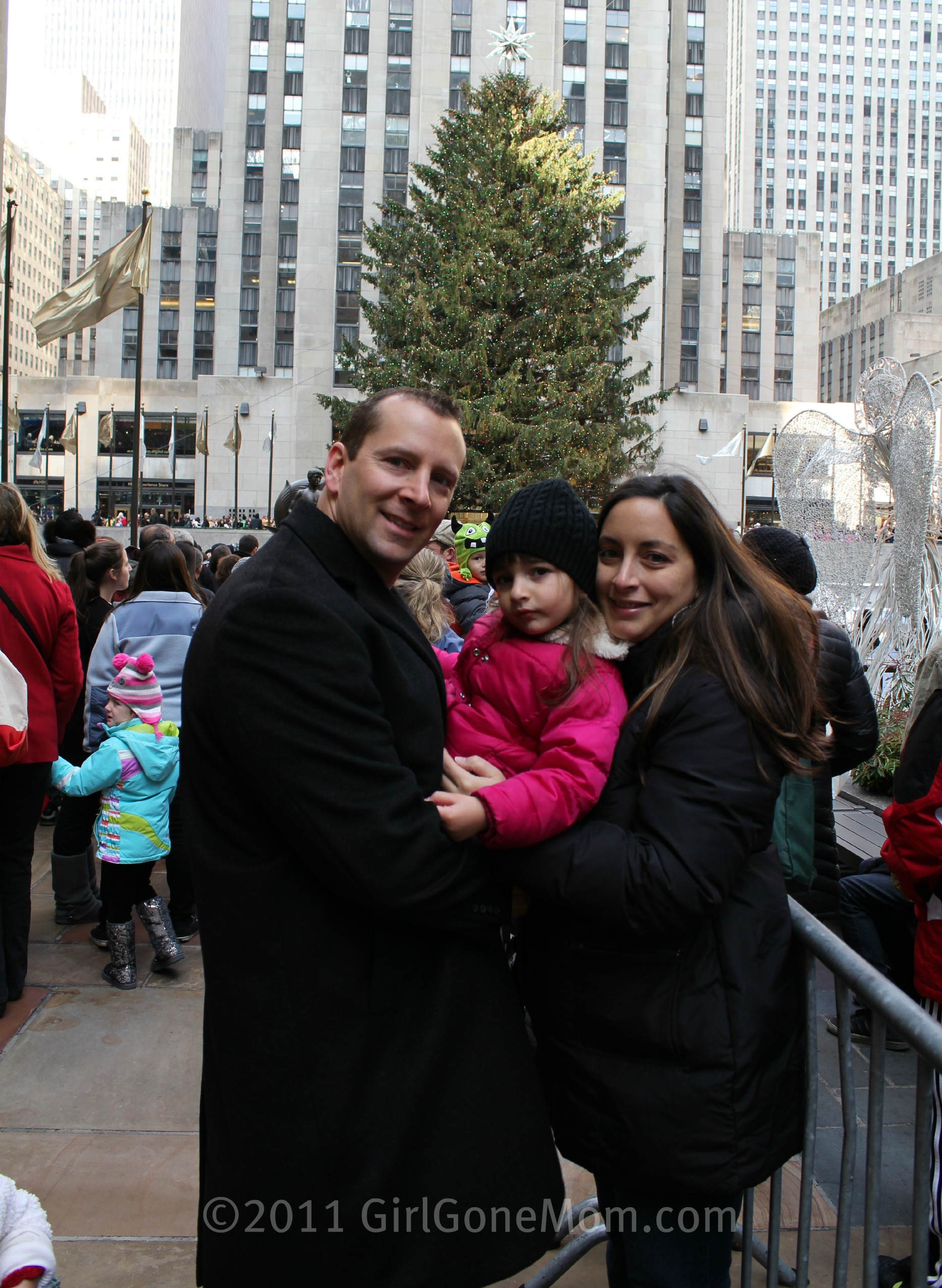 Family Photo by the Rockefeller Center Christmas Tree #WW