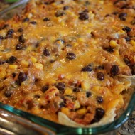Ground Turkey (or Beef) Taco Casserole Recipe