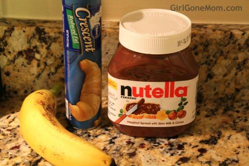 Nutella Banana Croissants | GirlGoneMom.com
