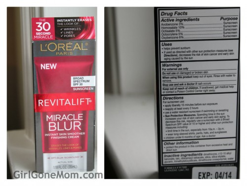 L'Oreal Revitalift Miracle Blur Instant Skin Smoother Finishing Cream, SPF 30
