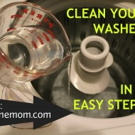 Clean Your Clothes Washer in Two Easy Steps