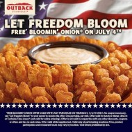 FREE Bloomin' Onion® on July 4th!