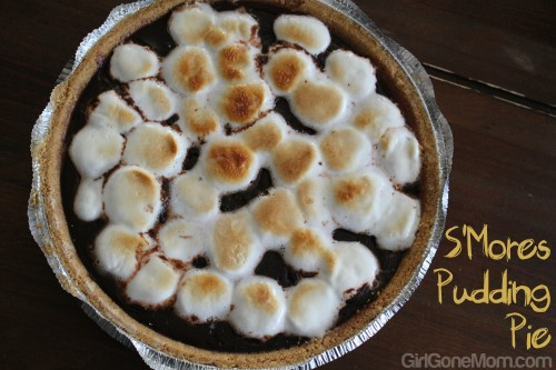 Easy S'mores Pudding Pie #Recipe | GirlGoneMom.com