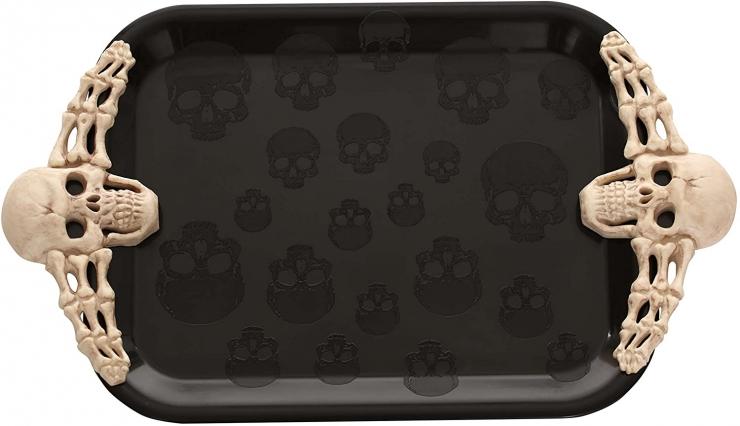 skull halloween tray