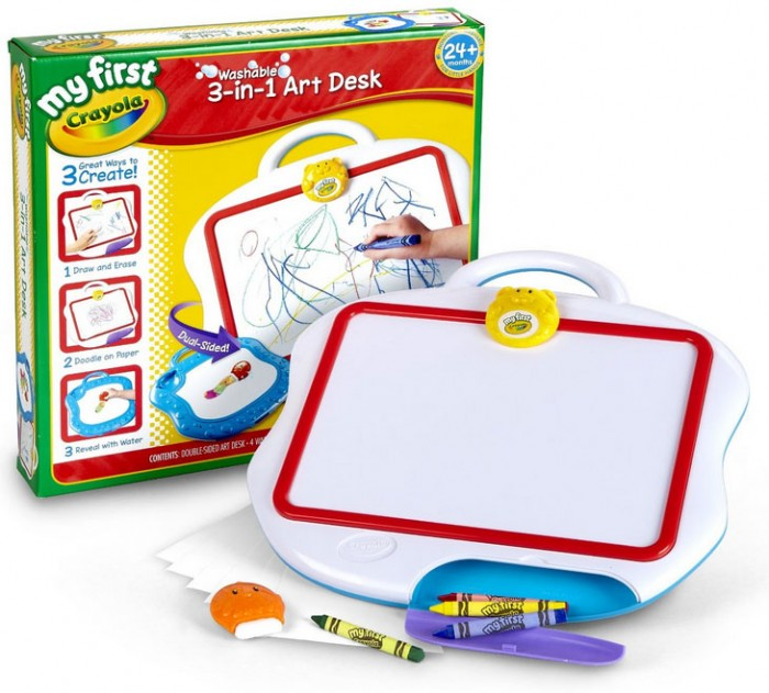 Gift Guide My First Crayola 3 In 1 Art Desk Review And