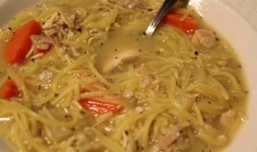 Leftover Rotisserie Chicken Noodle Soup Recipe