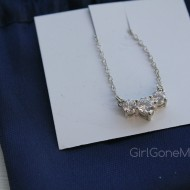 Anjolee Three Stone Pendant Necklace (Giveaway)