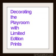 Decorating the Playroom with Art Prints