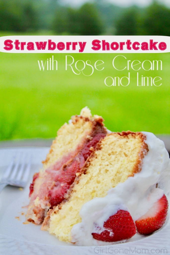 Strawberry Shortcake with Rose Cream and Lime