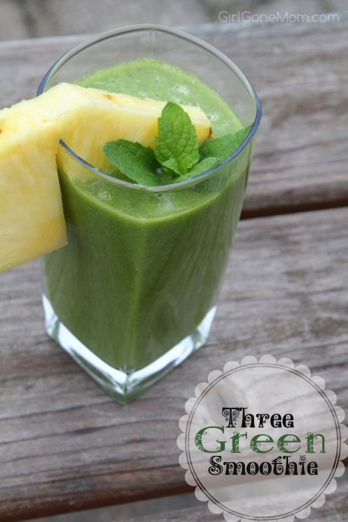 Three Green Smoothie Recipe | GirlGoneMom.com