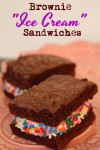 "Brownie ""Ice Cream"" Sandwiches 