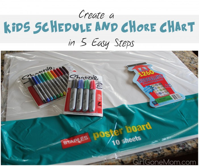 Create a Kids Schedule and Chore Chart in 5 Easy Steps | GirlGoneMom.com