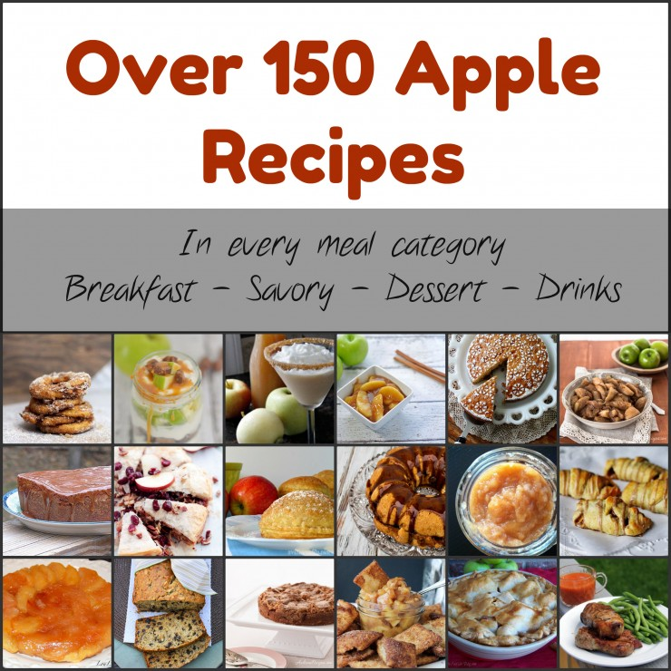150 apple recipes in every meal category | GirlGoneMom.com