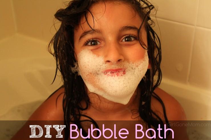 Homemade Bubble Bath | GirlGoneMom.com