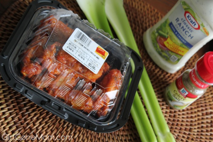 Tyson Hot Wings with Celery Blue Cheese Dip #GameTimeHero #CollectiveBias #ad