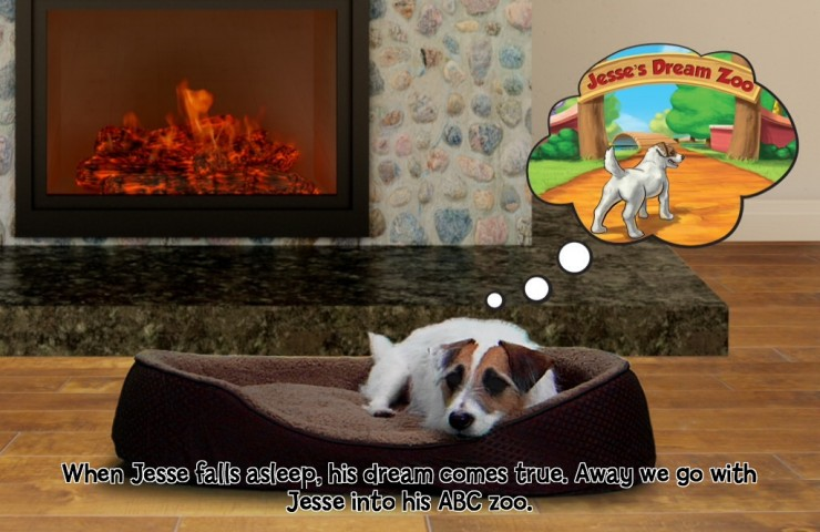 Jesse the Jack's ABC Zoo app and iBook