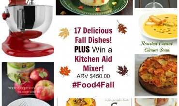 Kitchen-Aid Mixer Giveaway ARV $450 and 17 #food4fall recipes