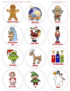 FREE Printable: Christmas-themed Who Am I? ice breaker game