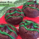 Christmas Tree Thumbprints - a delicious mint chocolate cookie