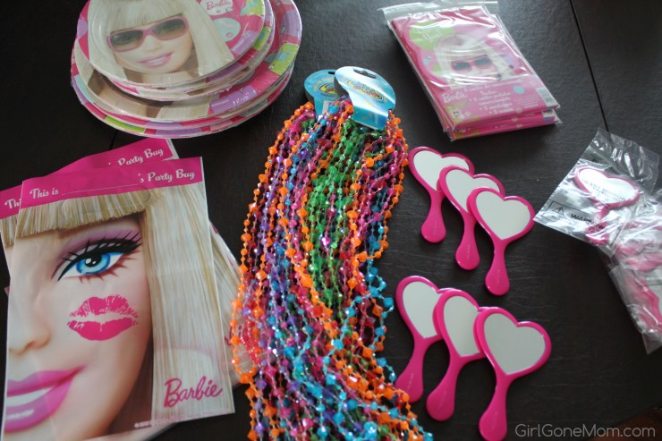 barbie party supplies, barbie favors