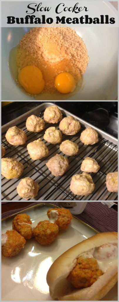 Slow Cooker Buffalo Chicken Meatballs - GirlGoneMom.com #slowcooker #crockpot #buffalo #meatballs