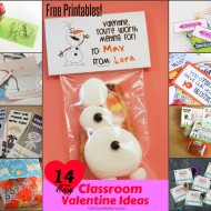 Over 14 EASY Classroom Valentines {Many Free Printables}