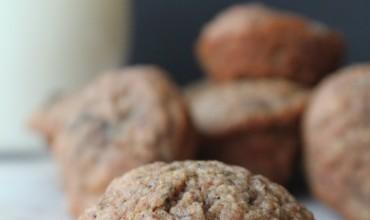 Mini Banana Oat Bran Muffins (1sp)