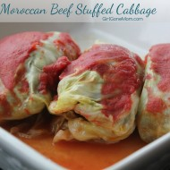 Moroccan Beef Stuffed Cabbage