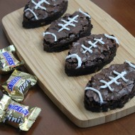 Snickers Football Brownies
