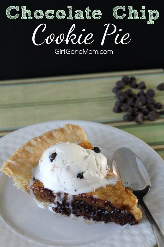Chocolate Chip Cookie Pie - Girl Gone Mom