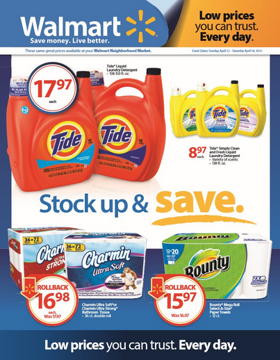 P&G Walmart rollback + giveaway