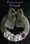 Burlap Seashell Wreath