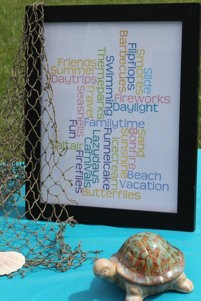 FREE summer word art printable #freeprintable #tabledecor #ad #ShareFunshine