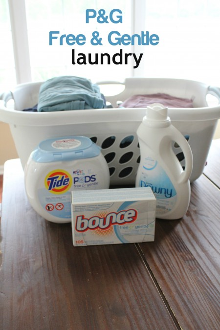 P&G Free and Gentle Laundry Products