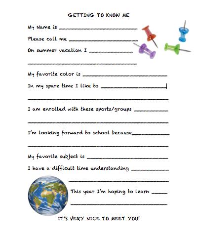 Free Back to School Printable!