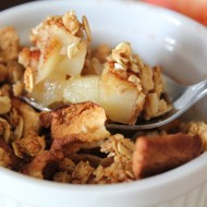 Sea Salt Caramel Apple Crisp