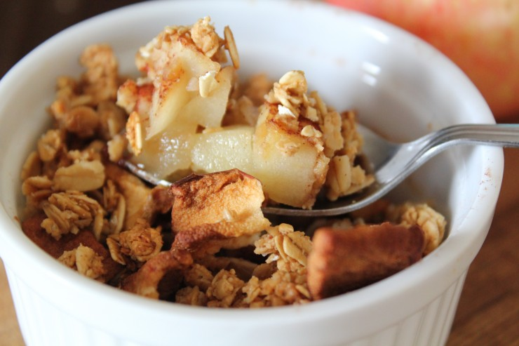 Sea Salt Caramel Apple Crisp