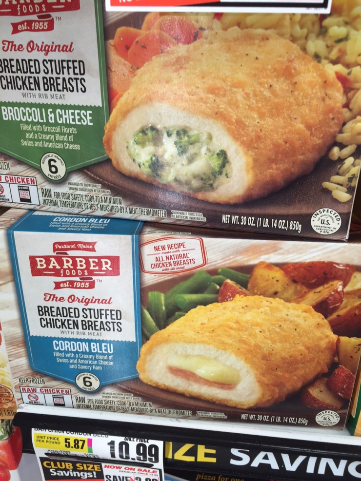 Barber Foods Stuffed Chicken Breasts
