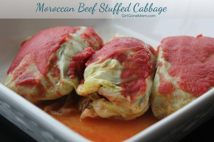 Moroccon beef stuffed cabbage