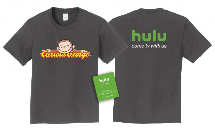 Win 3 months of Hulu and this tshirt! #CuriousGeorgeOnHulu