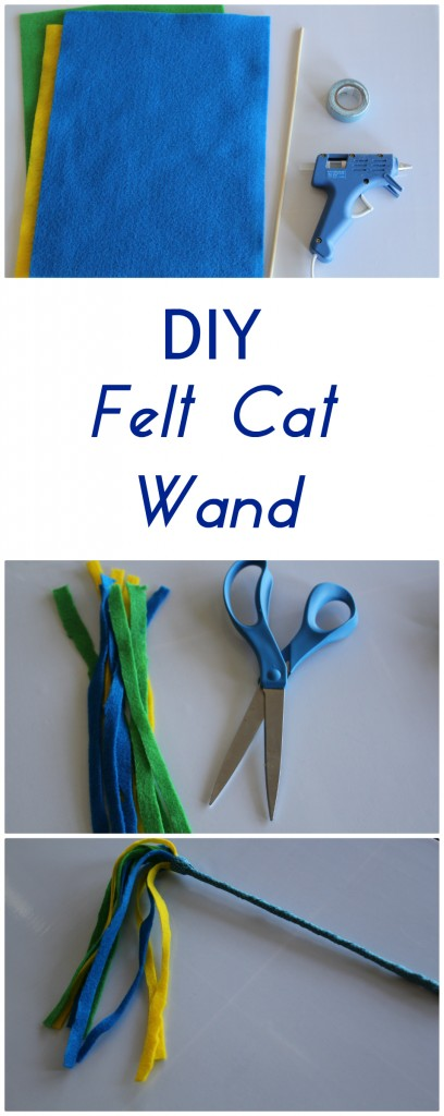 Easy DIY Felt Cat Wand