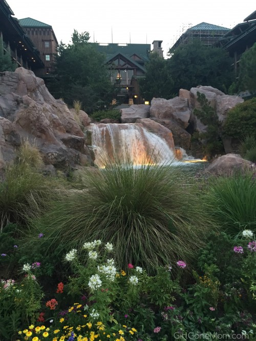 Disney's Wilderness Lodge Waterfall