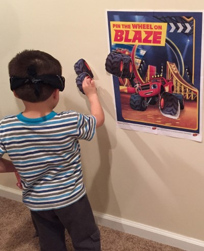 Blaze and the Monster Machines party games