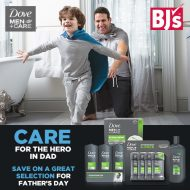 Dove Men + Care Men's Grooming and BJ's Wholesale Club Membership giveaway
