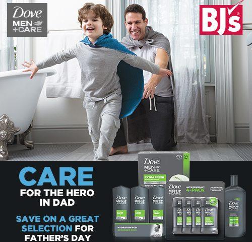 Dove Men + Care Men's Grooming and BJ's Wholesale Club Membership giveaway