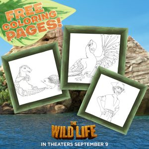 The wild life coloring pages