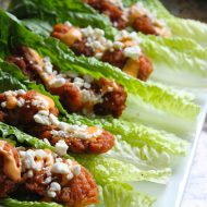 Boneless buffalo wing lettuce wraps