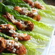 Ad: Boneless buffalo wing lettuce wraps